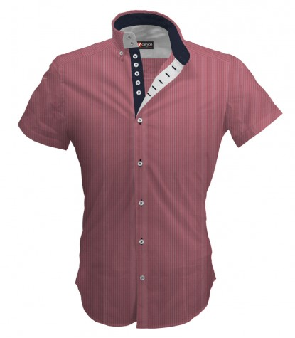 Shirt Marco Polo Cotton Polyester Antique Pink and White