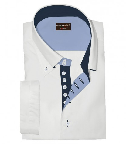 Shirt Marco Polo Cotton Polyester White