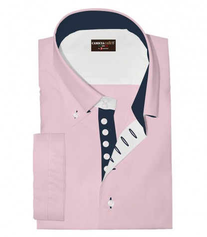 Shirt Marco Polo Cotton Polyester Pink
