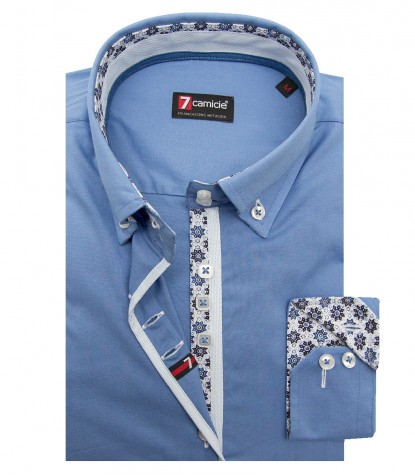 Shirt Sofia stretch poplin Ink Blue