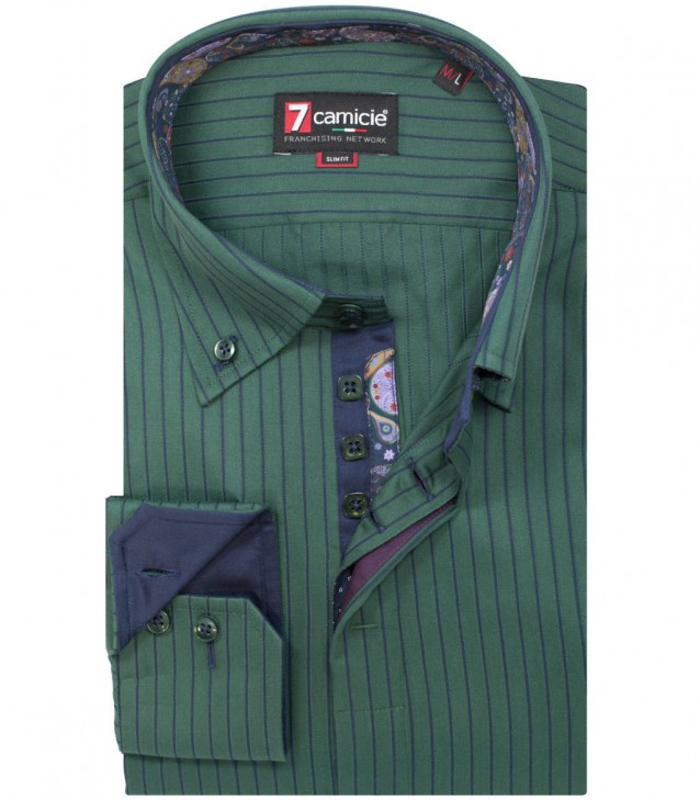 Shirt Roma Dark Green Blue