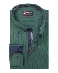 Shirt Roma Satin Dark Green Blue
