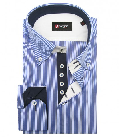 Shirt Roma Cotton BlueWhite