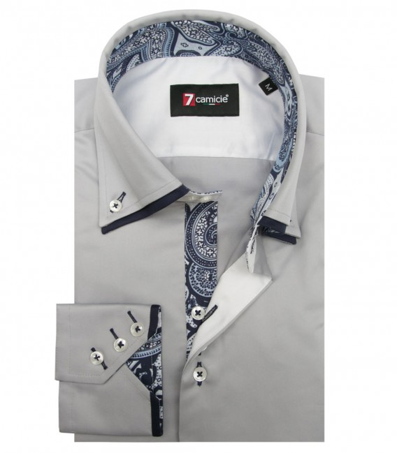 Shirt Colosseo Satin Light Grey