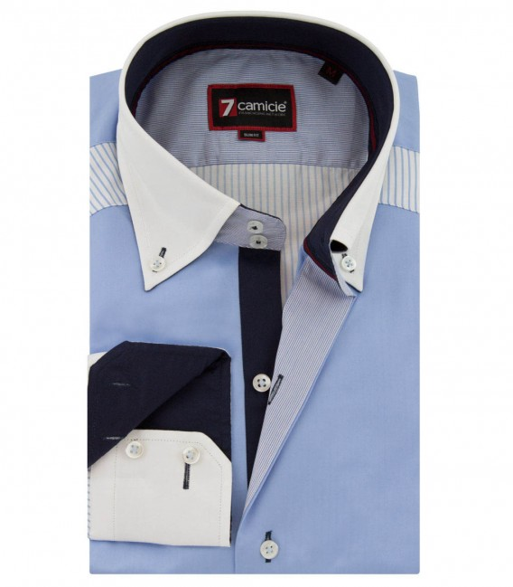 Shirt Satin bleu