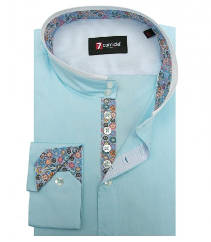 Shirt Caravaggio Oxford Turquoise