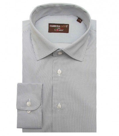Shirt Firenze Cotton Polyester WhiteBlue