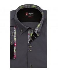 Shirt Roma poplin Dark Grey
