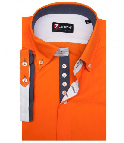 Shirt Marco Polo poplin Orange