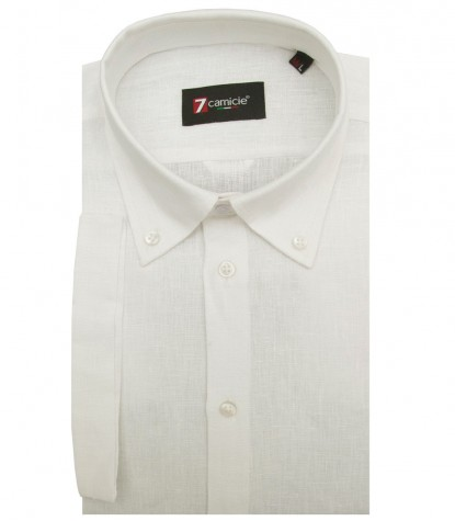 Man Shirt Linen Short Sleeve