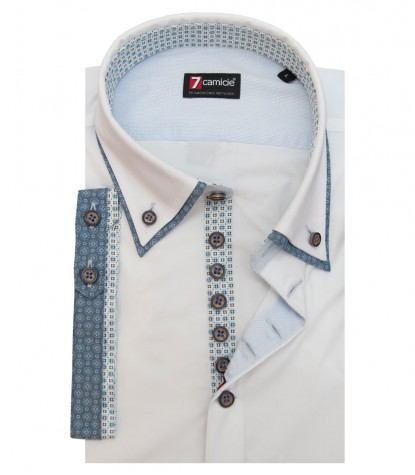 Camisas Donatello Popelín stetch Blanco
