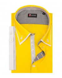 Camicia Donatello Popeline stretch Giallo