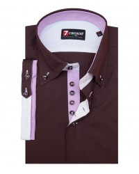 Shirt Marco Polo poplin Brown