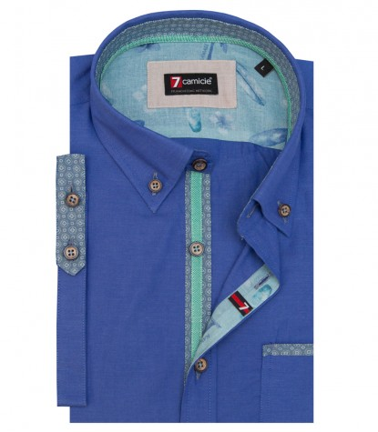 Camicia Leonardo Super oxford Blu avion