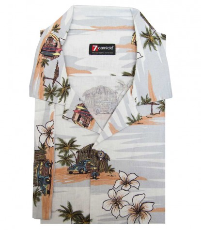 Camicia HAWAII Cotone Mastice e Avion