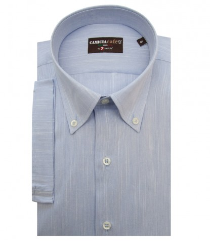 Shirt Leonardo Cotton Polyester Light Blue