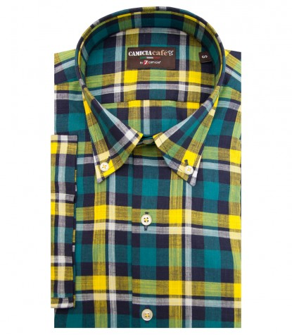 Shirt Leonardo Cotton Polyester Green Oil and Yellow