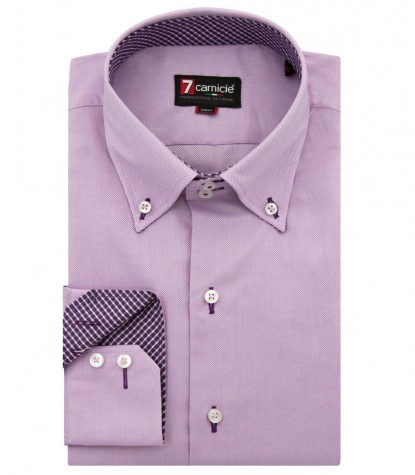Shirt Roma Honeycomb fabric Lilac