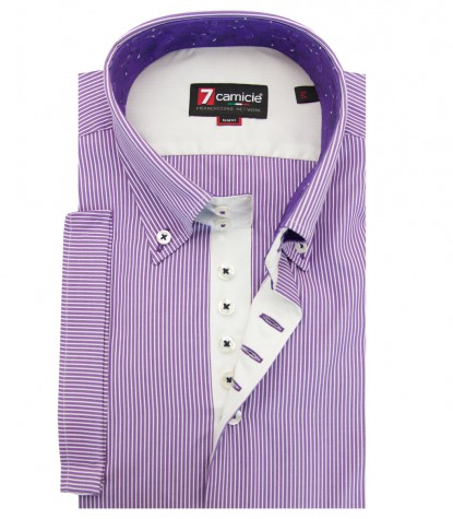Shirt Roma Weaved VioletWhite