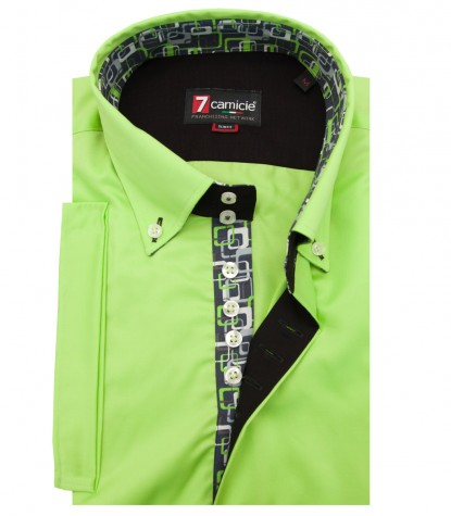 Shirt Roma Satin Medium Green