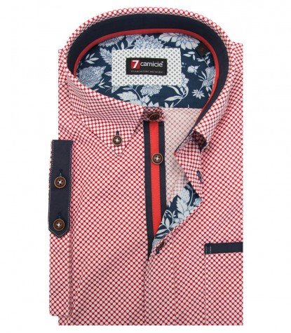 Shirt Leonardo Cotton RedWhite