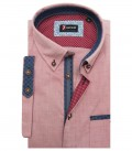 Shirt Leonardo Super oxford Red Bordeaux