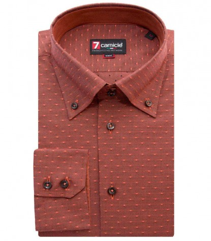 Shirt Roma jacquard Brick Orange Dark Orange
