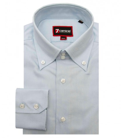 Man Shirt Roma Light Blue Botton Down
