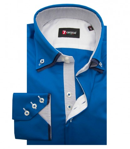 Camicia Colosseo Satin Bluette