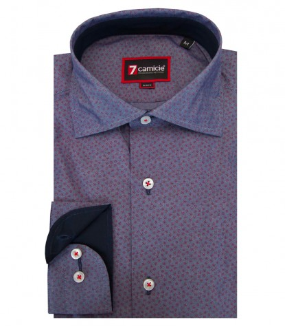 Shirt Firenze Cotton BlueRed