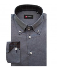 Shirt Roma Cotton Medium grey