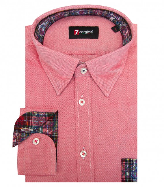 Shirt Leonardo Oxford Light Red