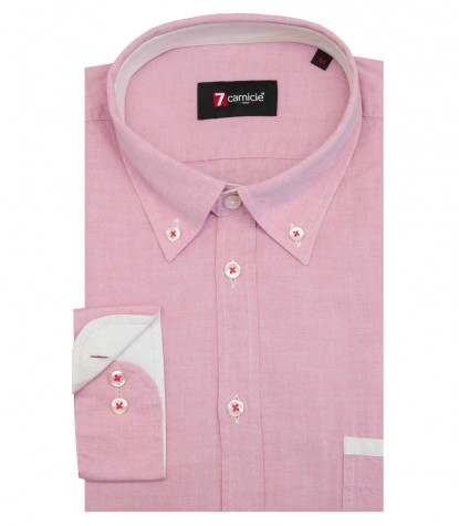 Chemises Leonardo super oxford Fuchsia