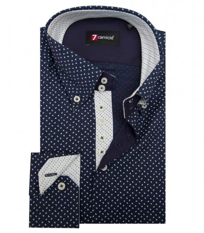 Shirt Roma Super oxford BlueBluette