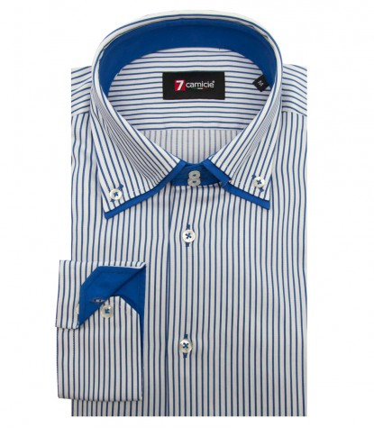 Shirt Marco Polo Satin White Bluette