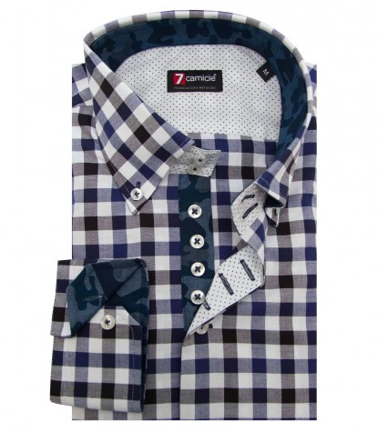 Camisas Roma Oxford BlacoAzul