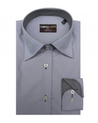 Shirt Linda Cotton Polyester Grey