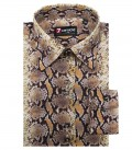 Shirt Linda Cotton Brown Beige