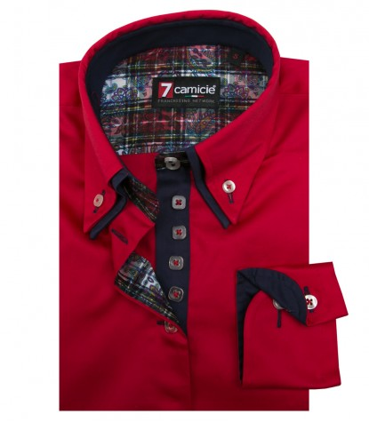 Shirt Elena Satin Red