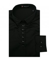 Woman Shirt in Black Satin