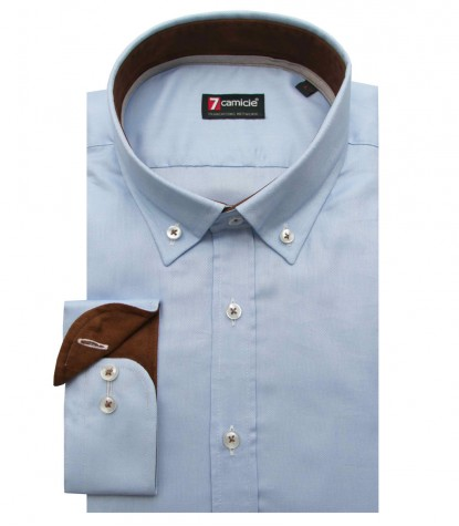 big sale 7ee71 fc0ec Shirt Leonardo Oxford Light Blue