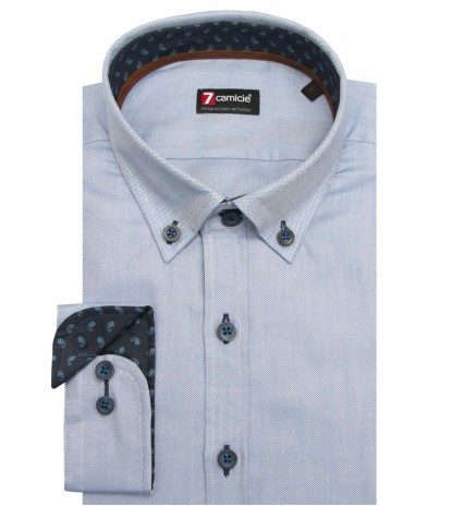 purchase cheap 903ce b6ddb Camicia Leonardo Oxford Blu avion