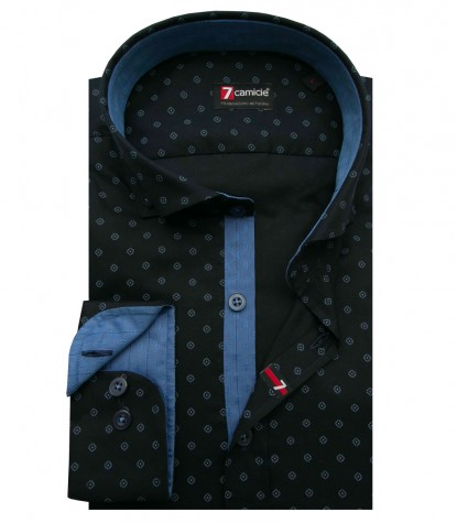 Shirt Leonardo Oxford Blue Light Blue