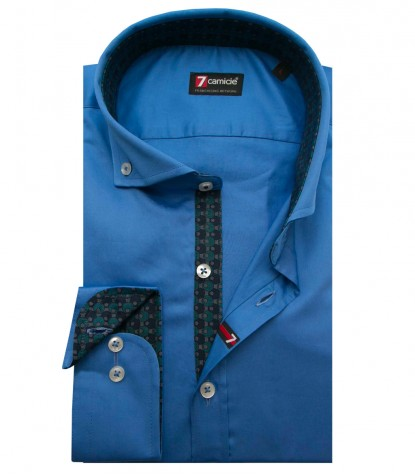 Shirt Leonardo Satin Sky Blue