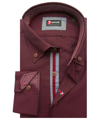 Shirt Roma Oxford Dk Red
