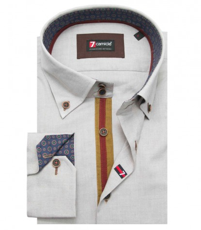 Shirt Roma Oxford Turtle-Dove Brown