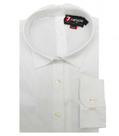 Shirt Giulietta stretch poplin White