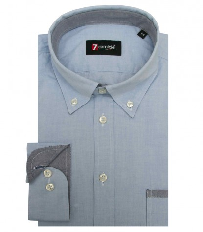 Shirt Leonardo Super oxford Ink Blue