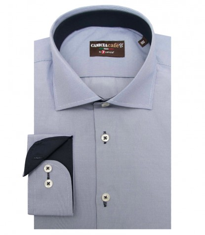Shirt Firenze Cotton Polyester BlueWhite