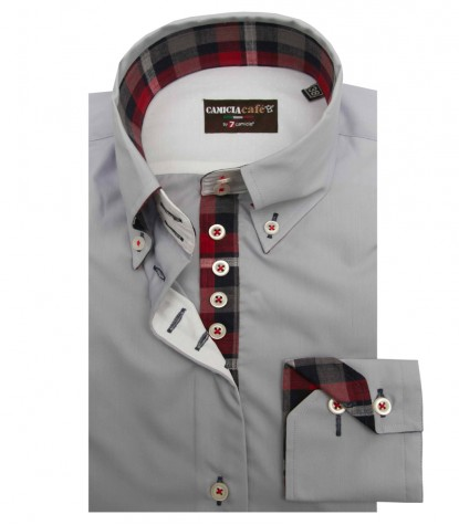Shirt Silvia Cotton Polyester Grey
